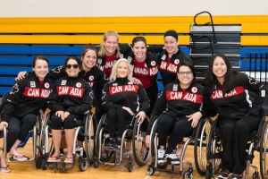 The Canadian Paralympic women's wheelchair basketball team was named on May 30.
