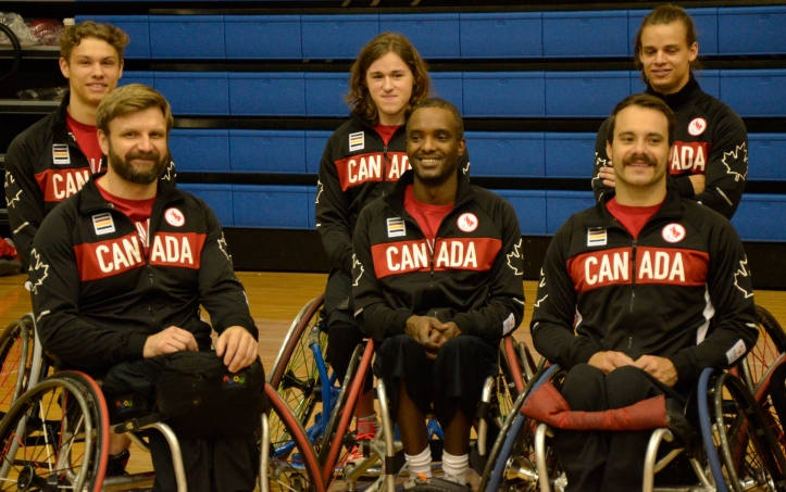 Abdi Dini and teammates are officially named to the Mens Paralympic wheelchair basketball team. May 30th, 2016 - Photo Credit: Keegan Matheson