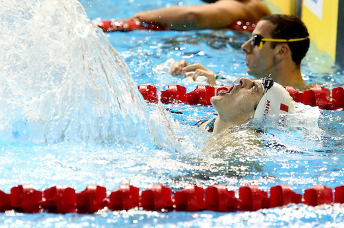 Toronto, Ontario, August 10, 2015. Gordie Michie competes in swimming during the 2015 Parapan Am Games . Photo Scott Grant/Canadian Paralympic Committee