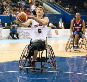 Liam Hickey at the 2015 Parapan Ams in Toronto.