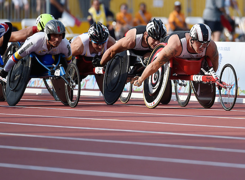 A Wheelchair Race in Toronto at the 2015 Parapan American Games.
