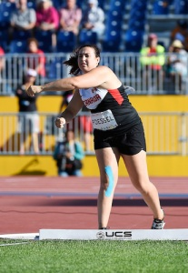 Renee Foessel competes in the Women's Discus Throw Final during the Toronto 2015 Parapan American Games.